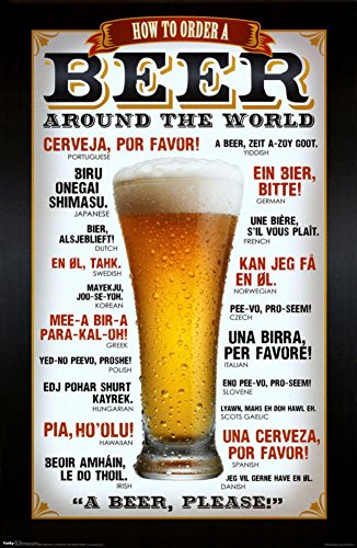 Order Beer Around The World Humor Poster Print, Print, Print