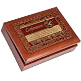 Cottage Garden Confirmation Ornate Woodgrain Music Box/Jewelry Box Plays Amazing Grace