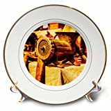 3dRose Alexis Photography - Objects - Vintage mincing machine - Golden Age Technologies. Stylized photo - 8 inch Porcelain Plate (cp_270817_1)