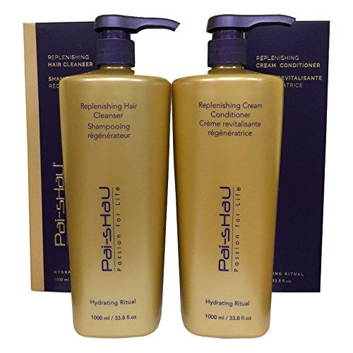 Pai Shau Replenishing Hair Cleanser & Cream Conditioner Liter DUO by PAI SHAU