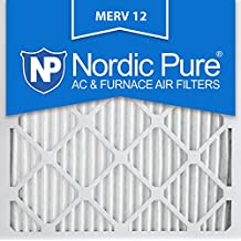 Nordic Pure 20x20x1M12-6 MERV 12 Pleated Air Condition Furnace Filter, Box of 6