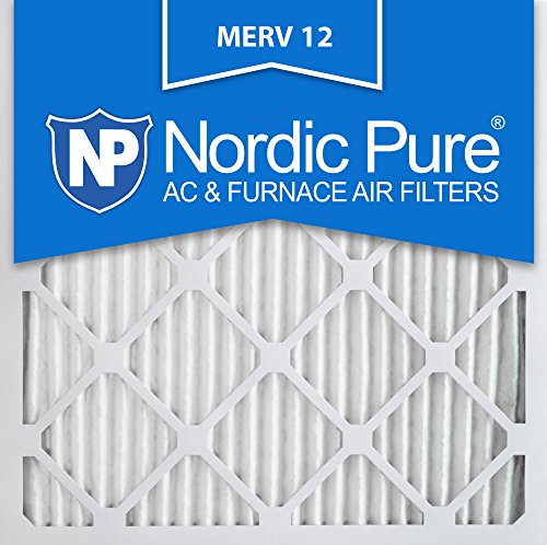 Nordic Pure 18x18x1M12-6 MERV 12 Pleated Air Condition Furnace Filter, Box of 6