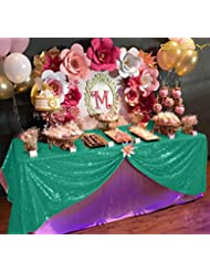 60x102-Inch Rectangular Sequin Tablecloth,Sparkly Green Sequin Tablecloth (60 x 102-Inch, Green)