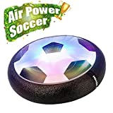 EpochAir Kids Toys, Hover Soccer Ball, Hockey Football 2-in-1 Floating Disc with Reinforced Battery Cover, Mini Screwdriver, Foam Bumpers and Infinitely Changing Colorful LED Light for Indoor or Team