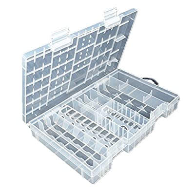 Fenical Transparent Storage Case for AA AAA C D 9V Hard Plastic Battery Case Holder Organizer from FENICAL