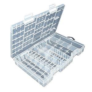 Delightful Fenical Transparent Storage Case For AA AAA C D 9V Hard Plastic Battery Case  Holder Organizer