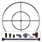 Spotix AFG Round Fire Pit Burner Kit (SS-FR-24KIT-NG-MSCB), 24-Inch Burner, Match Light, Natural Gas Review