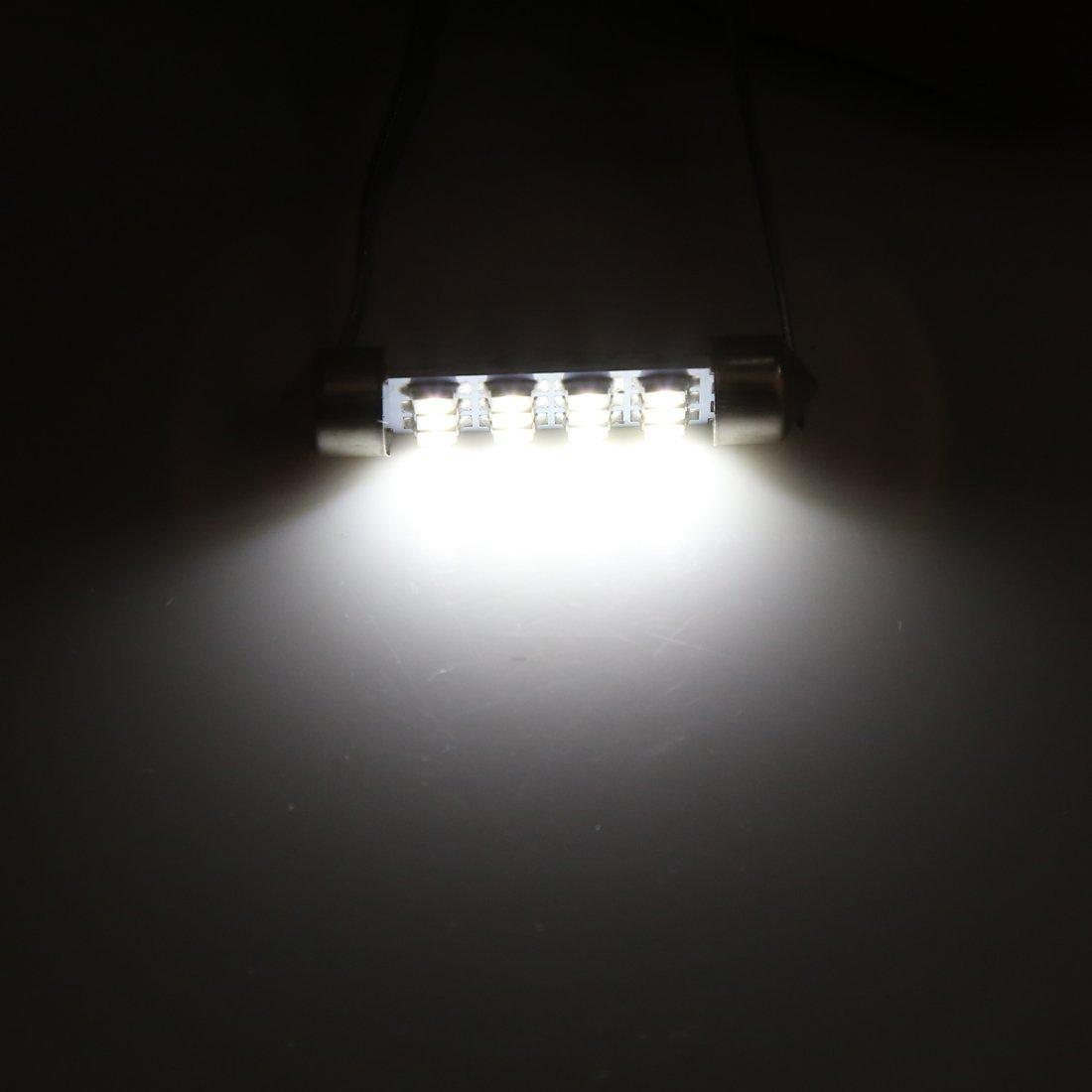 Amazon.com: eDealMax 30pcs coche Blanco bombilla LED 41mm Festoon 12 SMD 1210 Dome Mapa Interior de luz de lámpara: Automotive