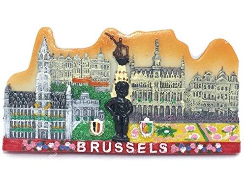Manneken Pis Brussels Belgium Souvenir Fridge Magnet Toy Set 3D Resin Wall Magnet ()