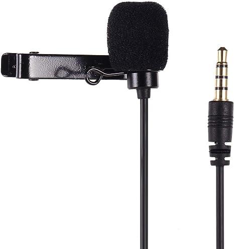 Micrófono de Solapa Omni-direccional Micrófono de Clip con 1,2 m de Longitud de Cable para Smartphone GoPro HERO3 / 3 Plus / 4 Action Camera para Canon Sony DSLR Camera: Amazon.es: Electrónica