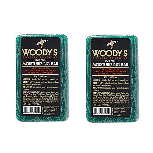 Woody's 8 oz. Moisturizing Bar,3-in-1 for Men, 2 Pack