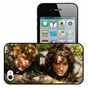 Personalized iPhone 4 4S Cell phone Case/Cover Skin Frodo baggins elijah wood sam sean astin the lord of the rings Movies Black