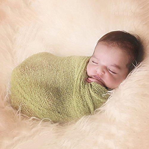 Ertans(TM) 利用可能な新しい到着ソフトストレッチラップ布スワドル新生児の写真毛布の小道具7色