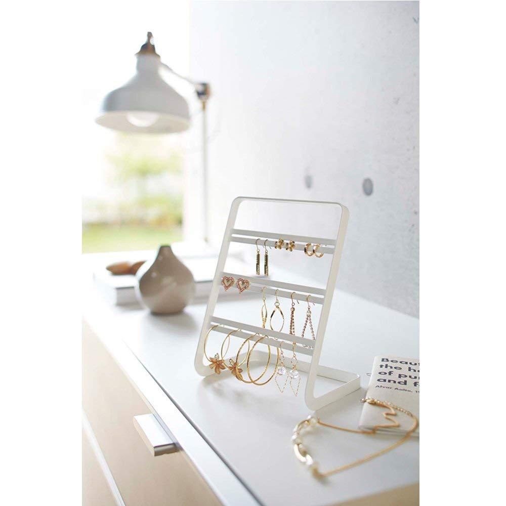 YAMAZAKI home Tower Earring Stand White