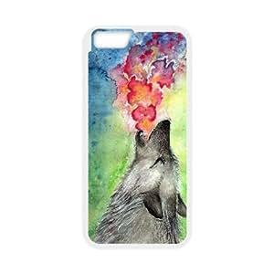 "LSQDIY(R) Howling wolf iPhone6 Plus 5.5"" Customized Case, Unique iPhone6 Plus 5.5"" Durable Case Howling wolf"