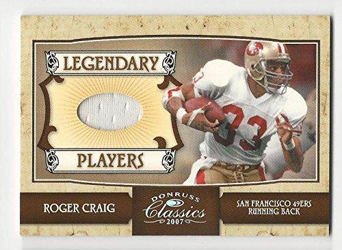 2007 Donruss Classics Legendary Players Jerseys Team Logo Roger Craig #18 MEM 14/33