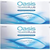 Oasis TEARS PLUS Lubricant Eye Drops Relief For Dry Eyes, 30 Count Box Sterile Disposable Containers (Pack of 2)