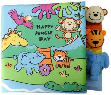 Edu-Petit Happy Jungle Day Finger Puppet Book Developmental Toy, Baby & Kids Zone