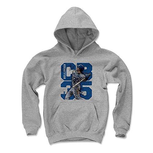 500 LEVEL Cody Bellinger Los Angeles Baseball Youth Sweatshirt (Kids Medium, Gray) - Cody Bellinger CB35 B