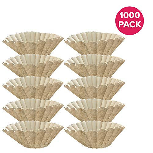 Think Crucial Replacement for Bunn Unbleached Paper Coffee Filter, Fits 12 Cup Commercial Coffee Brewers, Compatible with Part 1M5002 and 20115.0000 (1000)