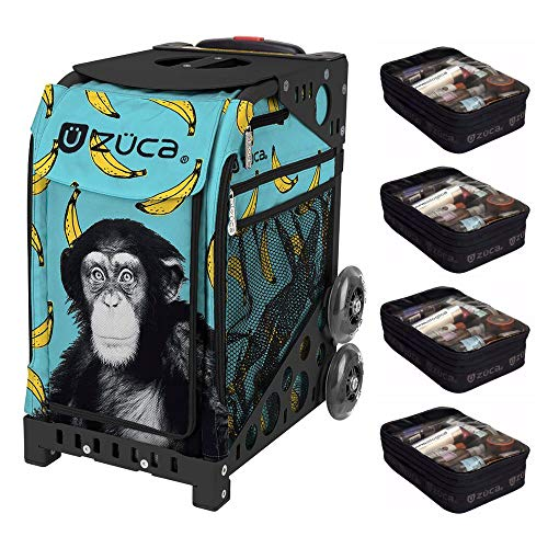 ZUCA Monkey Business Sport Artist Bag with Black Frame and Four Large Utility Pouches]()
