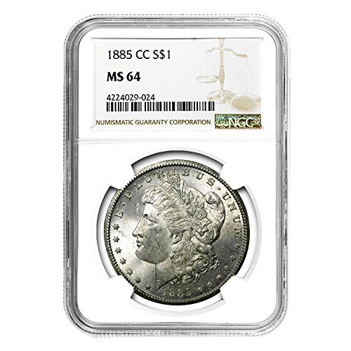 1885 CC Morgan Dollar $1 MS-64 NGC