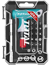 INECO Total 18 Piece T-Handle Ratchet Screwdriver Set