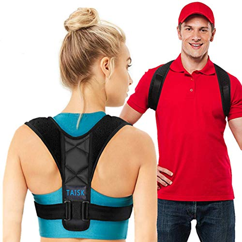 - 【2019 New Version】Taisk Posture Corrector for Men and Women- Comfortable Upper Back Brace for Clavicle Support Thoracic Kyphosis and Shoulder - Neck Pain Relief (28