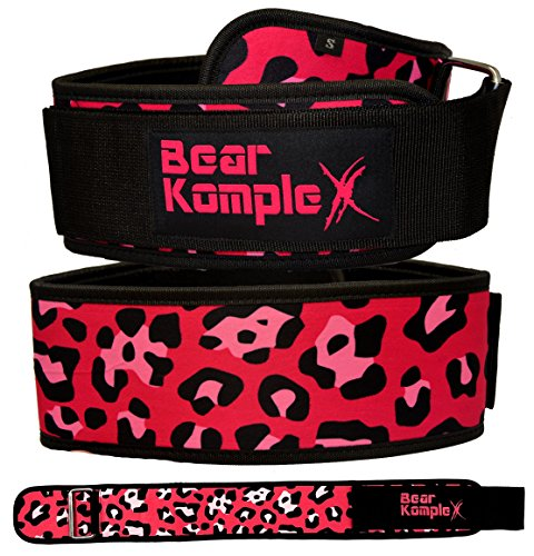 Bear KompleX 4 Straight Weightlifting Belt for Powerlifting, Squats, Weight Training & More. Low Profile with Super Firm Back for Maximum Stability & Exceptional Comfort. Straight Pink S