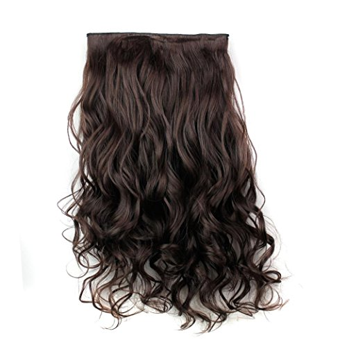 DEESEE(TM) 5Pcs Clip False Hair Synthetic Hair Extension - False Braids