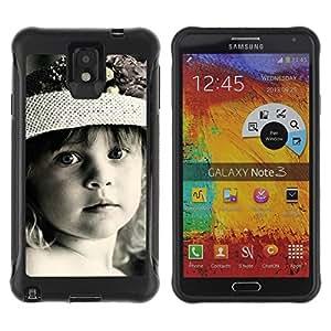 Suave TPU Caso Carcasa de Caucho Funda para Samsung Note 3 / Cute Little Girl / STRONG