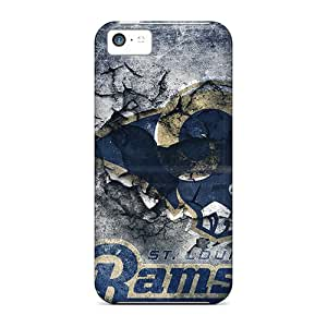 Durable St. Louis Rams Back Case/cover For Iphone 5c
