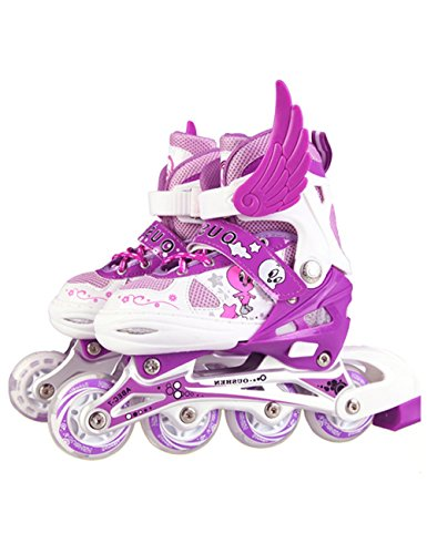 Adjustable Inline Skates Cartoon Rollerblades For Kids Illuminating