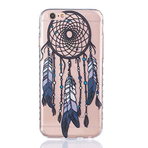Für Apple iPhone 6 / iPhone 6S (4.7 Zoll) Hülle ZeWoo® TPU Schutzhülle Silikon Tasche Case Cover - BF080 / Schwarz Campanula