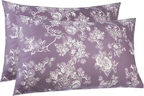 Pinzon 170 Gram Flannel Pillowcases - King, Floral Lavender