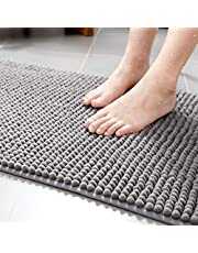 Tapete De Banheiro Antiderrapante Bolinha Microfibra 60x40cm (Cinza Escuro)