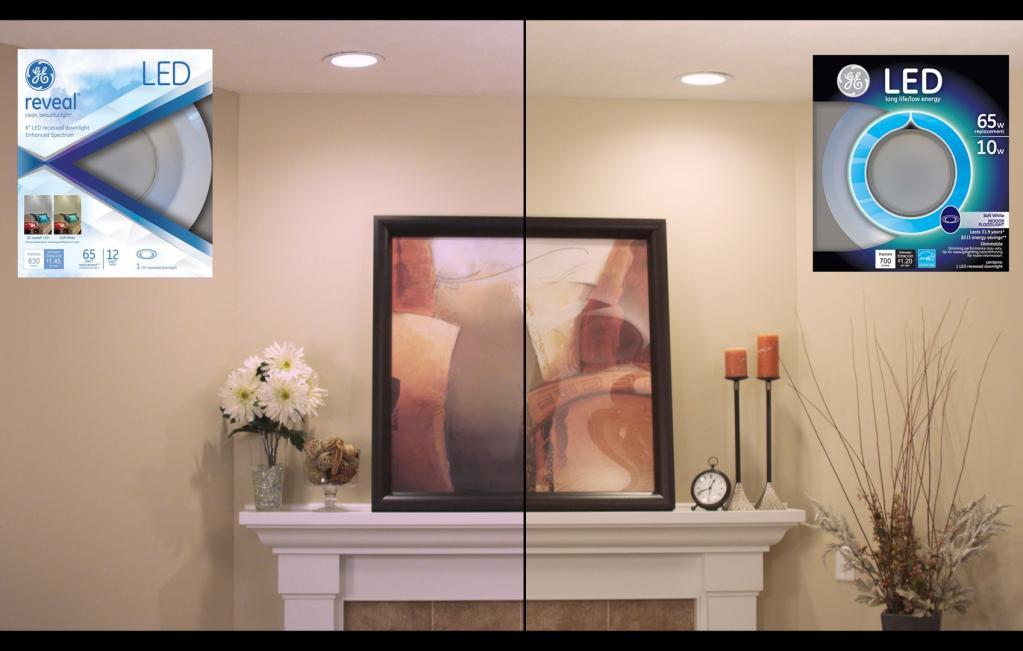 GE Lighting 95394 LED 10-watt 700-Lumen Dimmable 6-Inch Recessed ...