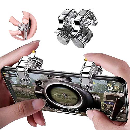 Compatible with PUBG Mobile Game Controller Upgrade Joysticks Gamepad Pack for Android iOS (Adjustable Transparent Button)