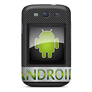 New Tpu Hard Case Premium Galaxy S3 Skin Case Cover(android Carbon)