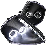 Spec-D Tuning LHP-ELP00JM-RS Mitsubishi Eclipse Coupe Black Halo SMD LED DRL Projector Headlights