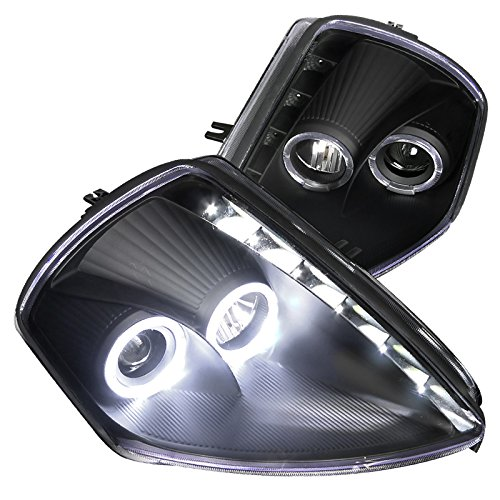 Spec-D Tuning LHP-ELP00JM-RS Mitsubishi Eclipse Coupe Black Halo SMD LED DRL Projector (Mitsubishi Eclipse Gs Coupe)