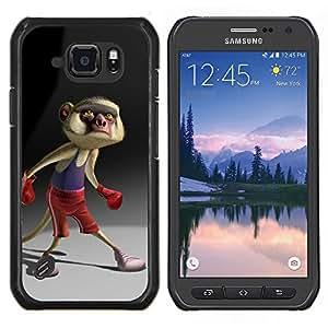 TECHCASE---Cubierta de la caja de protección para la piel dura ** Samsung Galaxy S6 Active G890A ** --Cartoon Boxeo Tail Personajes