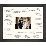Medium 12x16 Wedding Guest Signing Board Black Frame (Cream, Landscape/Portrait Rectangle) by BabyRice