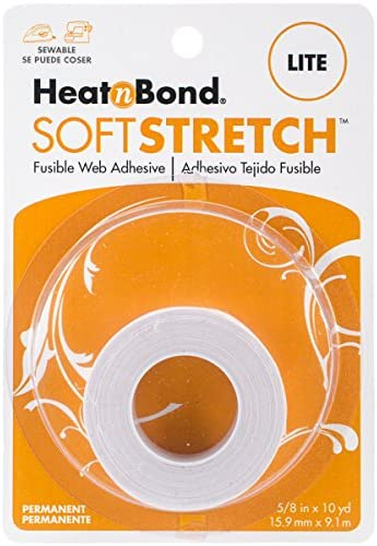 "Iron On Adhesive Heat N Bond Hem No Sew Hemming Tape For Light Fabric 7//8/""x10yds"