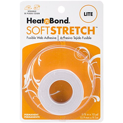 HeatnBond SoftStretch Lite Iron-On Adhesive, 5/8 Inch x 10 Yards