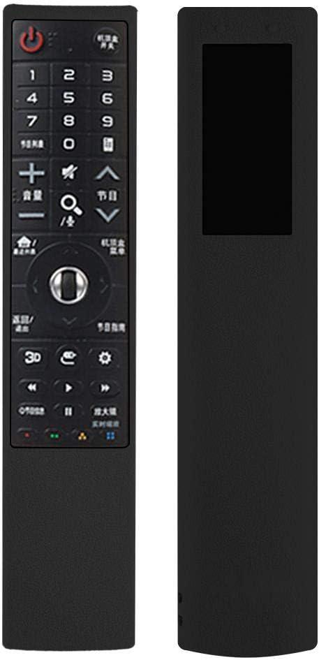 TV Remote Case for LG AN-MR700, Dustproof Shockproof Silicone Protective Case for LG AN-MR700 Remote Controller(Black)