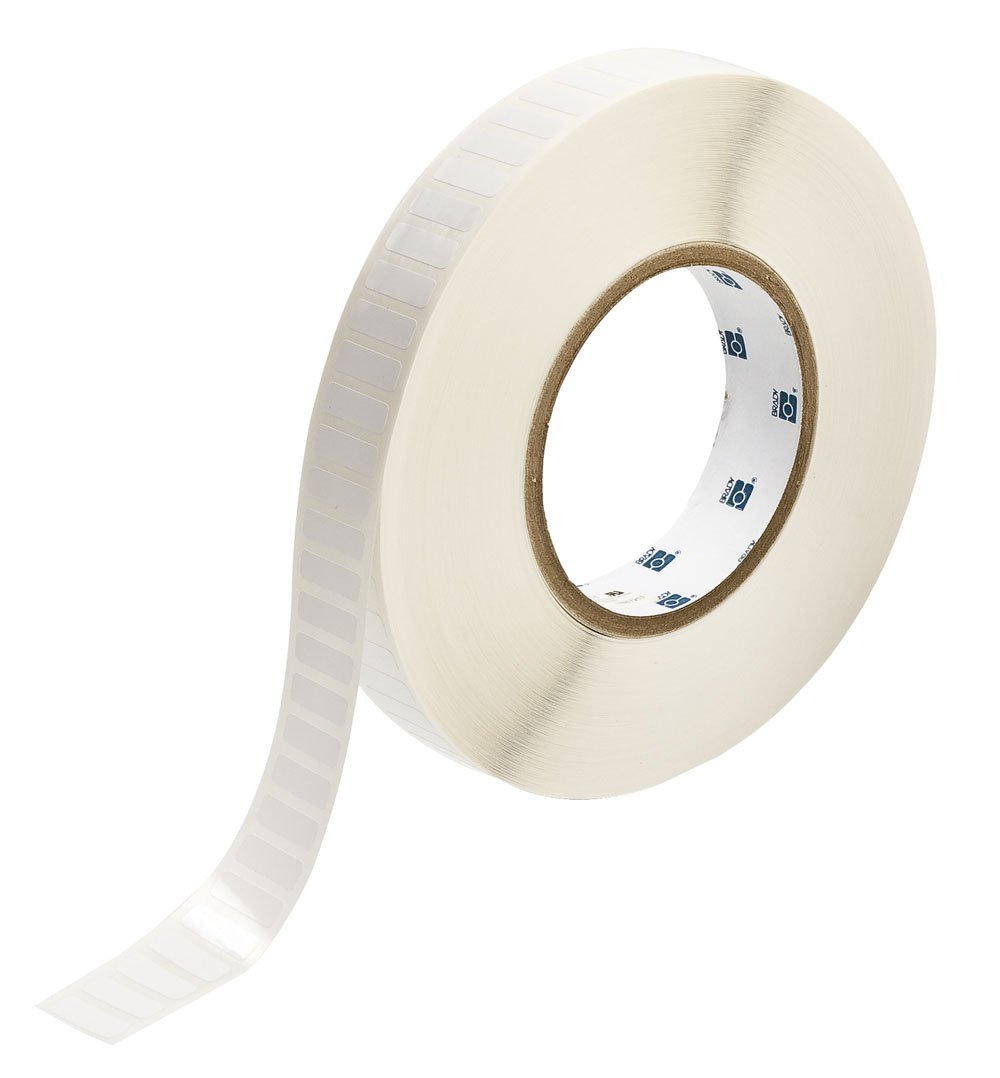 Brady THT-46-423-10 0.75'' Width x 0.25'' Height, B-423 Permanent Polyester, Gloss Finish White Thermal Transfer Printable Label (10000 per Roll) by Brady
