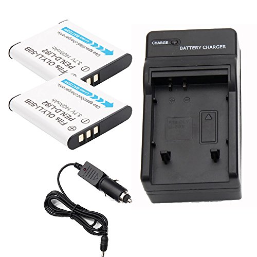 TWO Battery For Olympus Li-50B DLI92 Stylus 1010 1020 Pentax RICOH X 2 + Charger (Pentax Type)