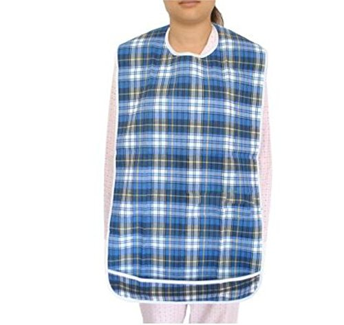 LUCKYYAN Three Layers of Composite Material PVC Adult Bibs, Clothing Protector- Waterproof, Reusable ,Washable , b by LUCKYYAN