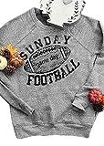 Chulianyouhuo Sunday Game Day Football Long Sleeves O Neck Sweatshirt (S, Gary)